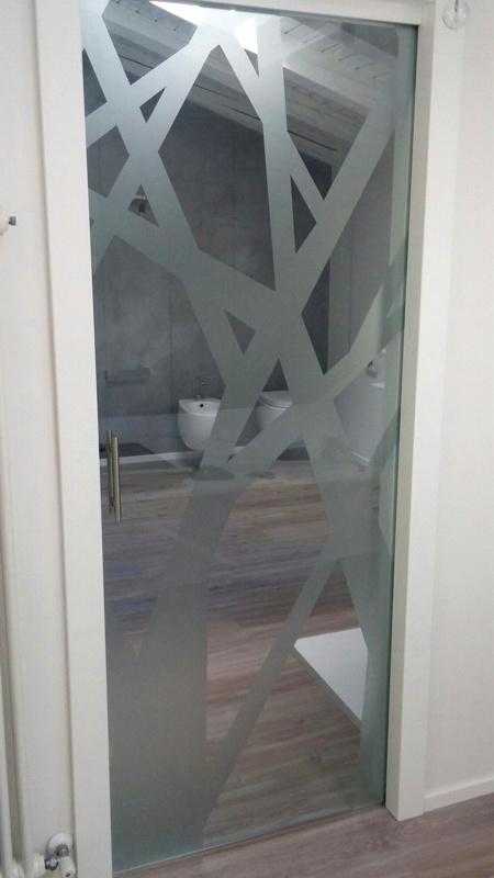 Porte scorrevoli in vetro padova venezia vetreria ve ri - Spazzole per porte scorrevoli ...