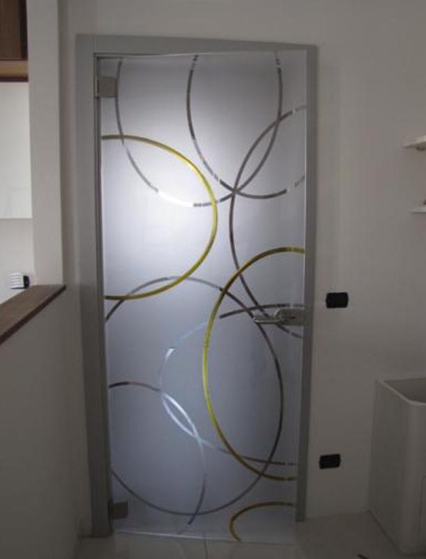 Porte scorrevoli in vetro padova venezia vetreria ve ri - Porte in vetro design ...